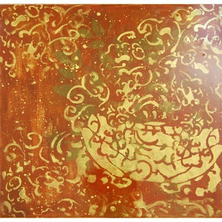 'The Flame' Abstract Canvas Wall Art