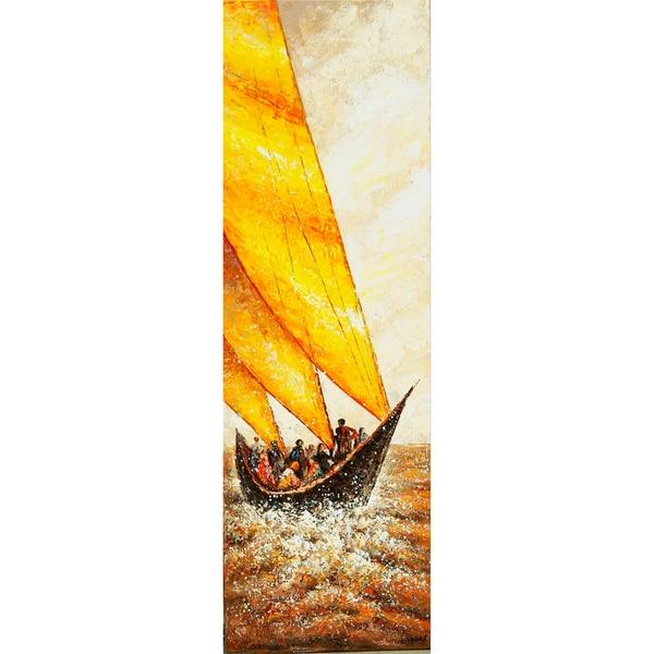'The Voyage' Vertical Canvas Art