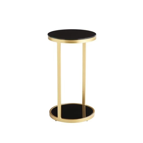 Sunpan Benjamin Gold/ Black End Table