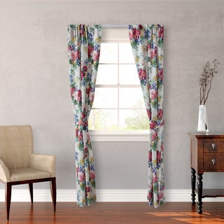 Laura Ashley 'Melinda' 4-piece Floral Window Panel Set