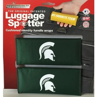 The Original Patented NCAA Michigan State Spartans Luggage Spotter (Set of 2)
