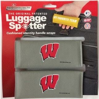 The Original Patented NCAA Wisconsin Badgers Luggage Spotter (Set of 2)