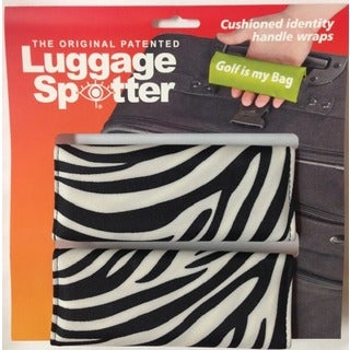 Original Patented Zebra Printed Luggage Spotter (Set of 2)