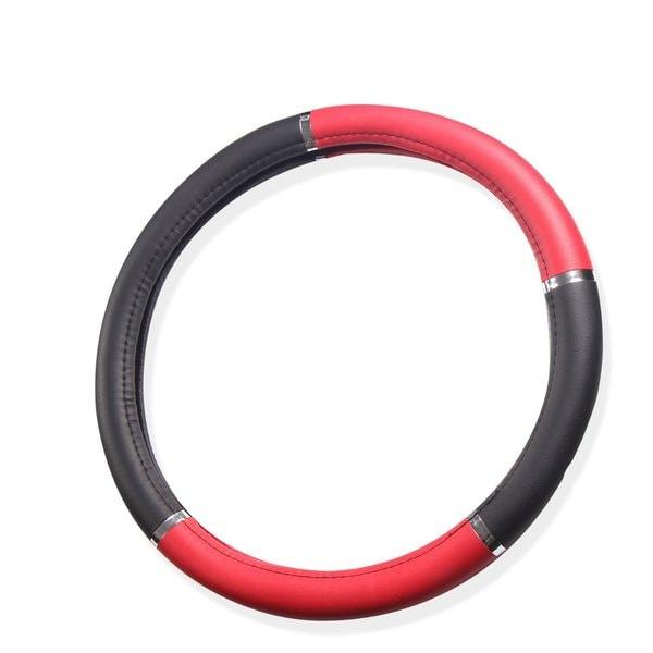 Universal Fit Black/ Red Steering Wheel Cover