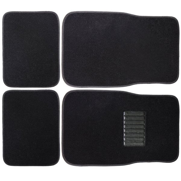Black Floor Carpet 4-piece Car Mat Set