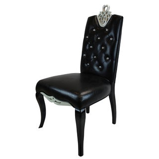 Arbonni Modern Diamond Luxury Black Faux Leather Dining Chairs (Set of 2)
