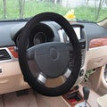 Universal Fit Black Mesh Fabric Steering Wheel Cover