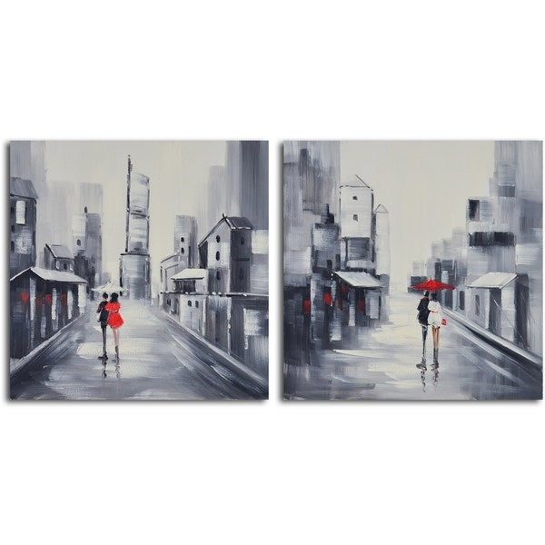 """Hand Painted """"Same Love, Different Day"""" Canvas Wall Art"""