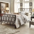 Aria King-size Contemporary Window Geometric Pattern Metal Bed