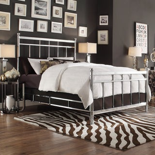 Bella King-size Contemporary Silver Chrome Bed