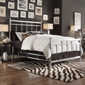 INSPIRE Q Bella King-size Contemporary Silver Chrome Bed