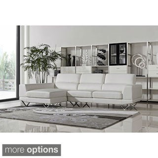 DG Casa Drake White Sectional Sofa