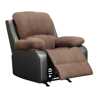 Rider Chocolate Microfiber Rocker Recliner