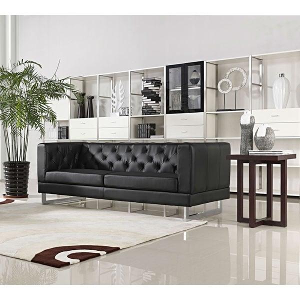 DG Casa Allegro Black Button-tufted Sofa