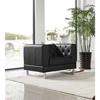 DG Casa Allegro Black Button-Tufted Chair