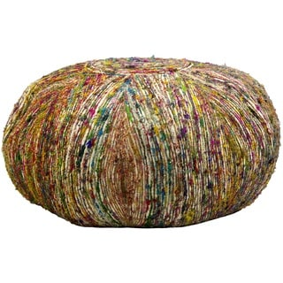 Nourison 'Mina Victory Lifestyle' Round 28-inch Multicolor Pouf