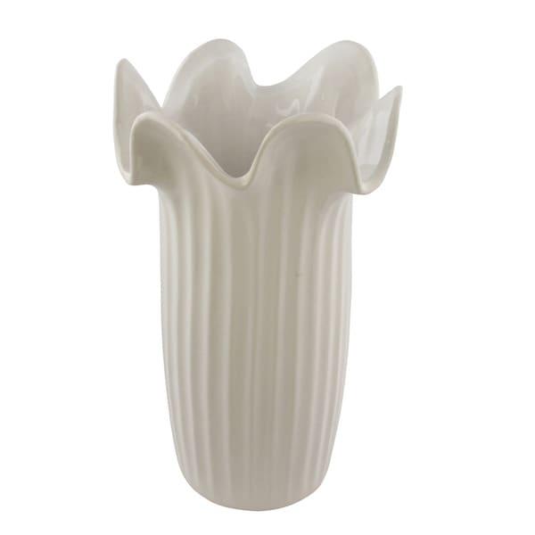 White Sienna Vase
