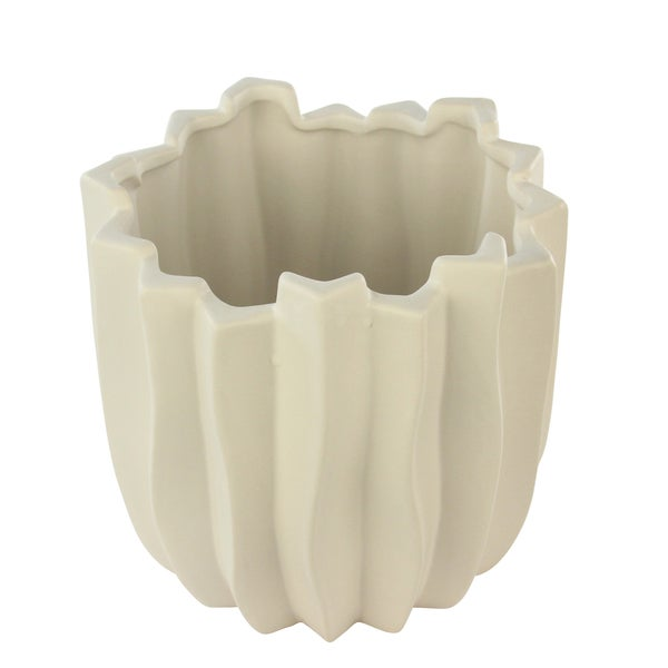 White Carolina Medium Vase