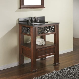Avanity Napa 24-inch Single Vanity in Dark Cherry Finish with Sink and Top
