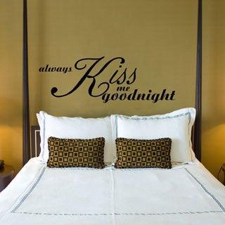Always Kiss Me Goodnight Vinyl Wall Art Sticker