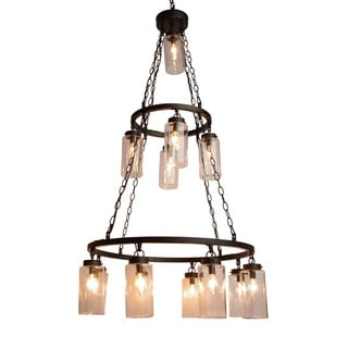 Gallery 3-tier 13-light Rustic Bronze Chandelier