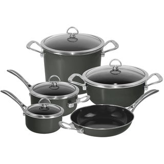 Chantal Onyx Black 9-piece Copper Fusion Cookware Set