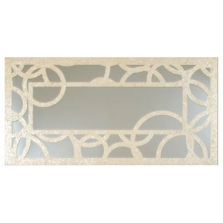 Selections by Chaumont Concentric Circles Pearl Capiz Decorative Mirror