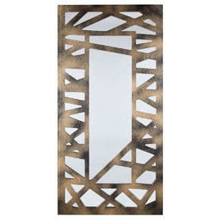 Selections by Chaumont Criss-Cross Black/ Gold Decorative Mirror