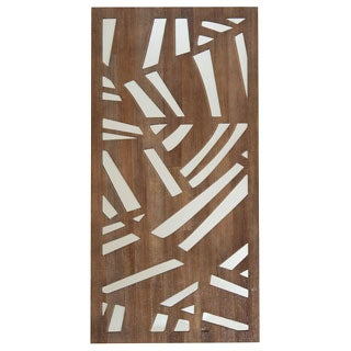Selections by Chaumont Palm Frond Cocoa Brown Decorative Mirror