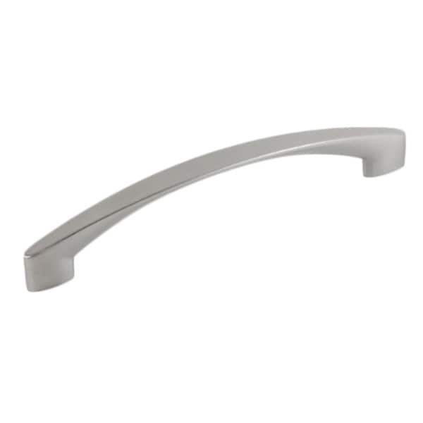 Contemporary 7-1/8 inch High Heel Arch Design Stainless Steel Finish Cabinet Bar Pull Handle (Case of 15)
