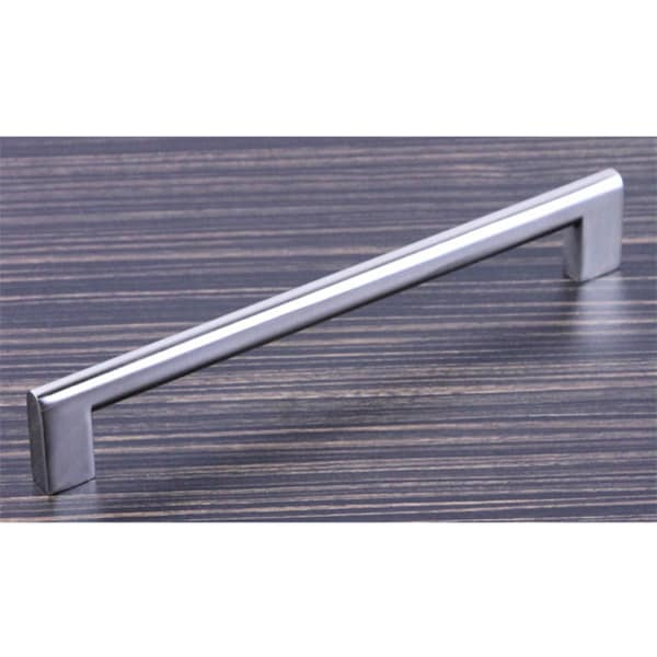 Contemporary 8-1/8-inch Key Shape Design Stainless Steel Finish Cabinet Bar Pull Handle (Case of 10)