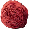 Mina Victory Felt Pillow Coral 16-inch Round by Nourison