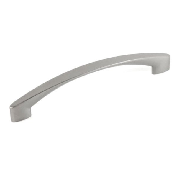 Contemporary 7-1/8 inch High Heel Arch Design Stainless Steel Finish Cabinet Bar Pull Handle (Case of 5)