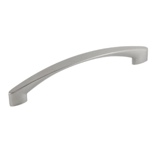Contemporary 7-1/8 inch High Heel Arch Design Stainless Steel Finish Cabinet Bar Pull Handle (Case of 4)