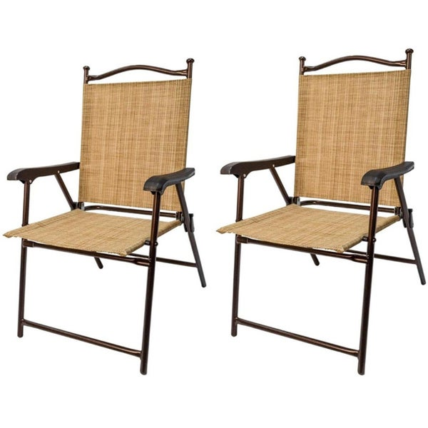 Folding UV resistant Outdoor Chairs Set of 2