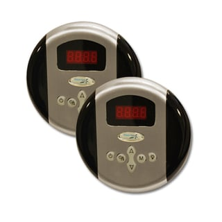 SteamSpa Dual Control Panel Plus Two memory Settingsin Brushed Nickel