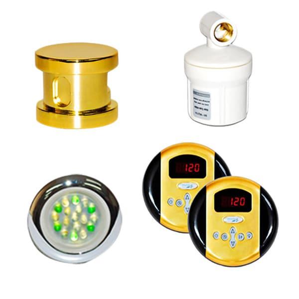 SteamSpa Royal Control Kit in Polished Brass
