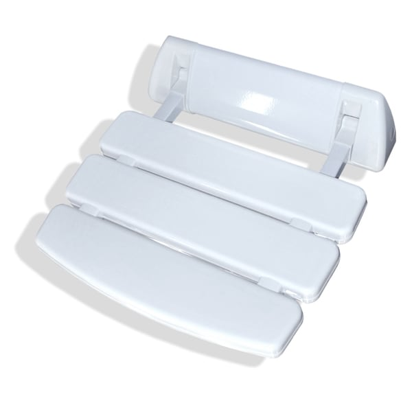 SteamSpa Wall Mounted Shower Seat in White