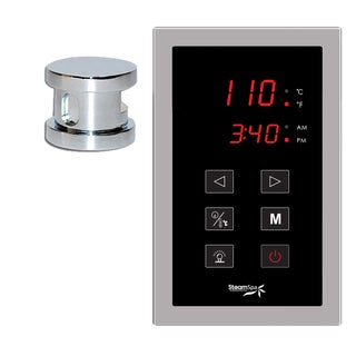 SteamSpa Oasis Touch Pad Control Kit in Chrome