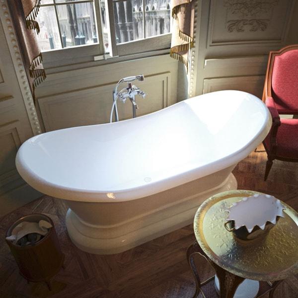 Mountain Home Olympus 34 x 71 Acrylic Soaking Freestanding Bathtub