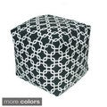 Link Pattern 17-inch Indoor/ Outdoor Bean Bag Cube
