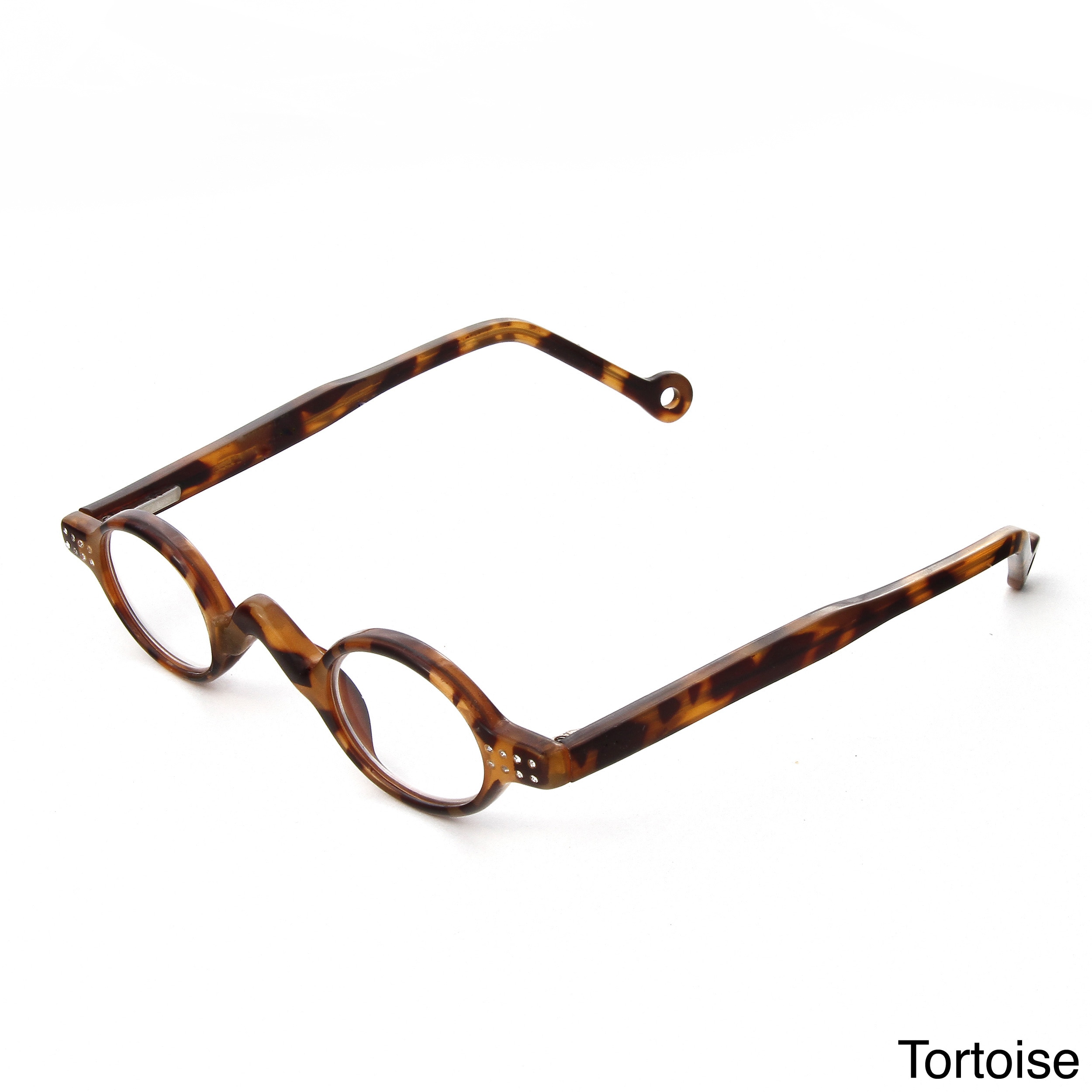 Hot Optix Ladies Small Round Reading Glasses with Rhinestones