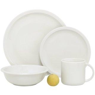 Melange 'Contempo Cantina' White16-piece Porcelain Dinnerware Set