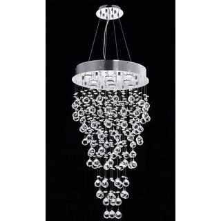 Falling Rain 9-light Chrome/ Crystal Chandelier