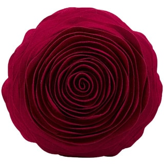 Mina Victory Felt Ruby 16-inch Round Throw Pillow