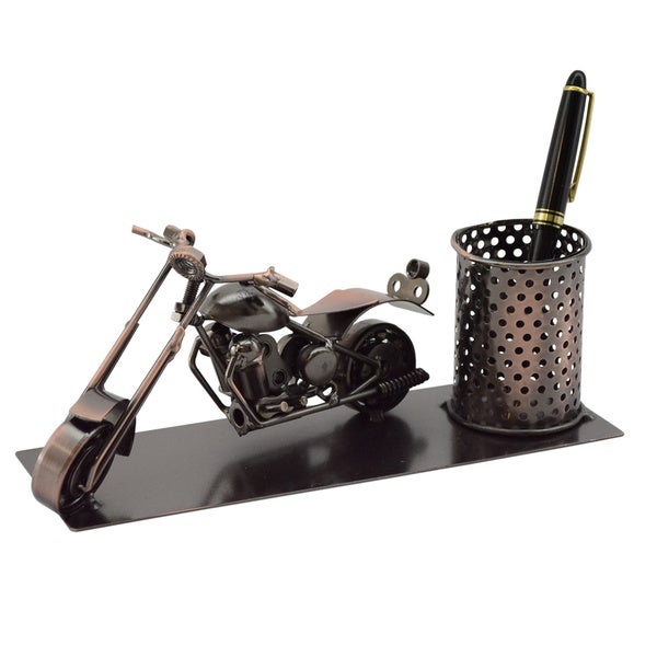 Three Star Motorcycle Desk Pen Holder 12716419