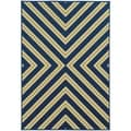 Indoor/ Outdoor Geometric Polypropylene Rug (3'7 x 5'6)