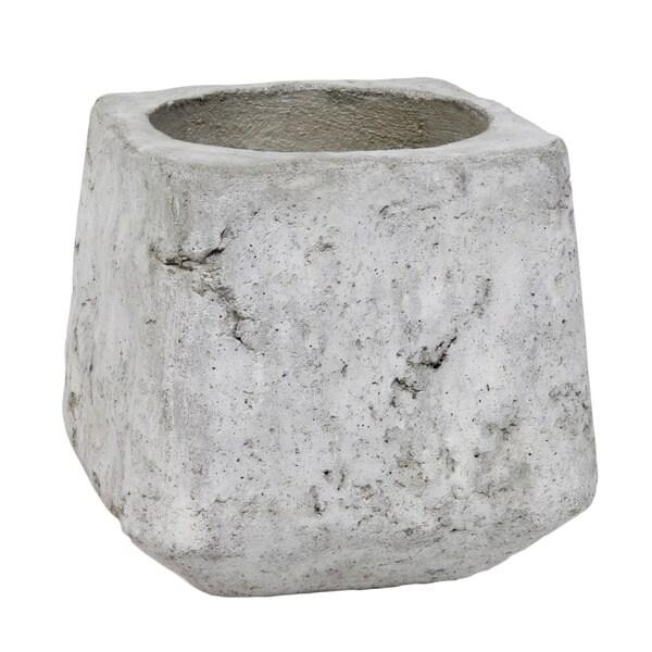 Sage & Co Small Square Grey Cement Planter