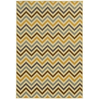 Indoor/ Outdoor Chevron Polypropylene Rug (1'9 x 3'9)