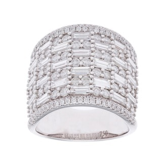 18k White Gold 4ct TDW Pave Multi-stone Diamond Ring (G-H, SI2-I1)